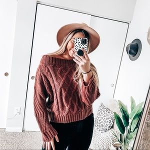 Akira chunky knit sweater